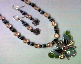 Bugged Necklace and Earrings (0797)