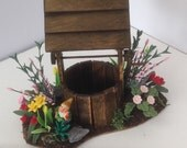 Dolls House Miniatures - Wishing Well Scene - NEW SPRING 2015