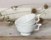 SALE 40% off with code SUMMERBREAK | Two fabulous white teacups with, Vintage French coffee cups, Tea party