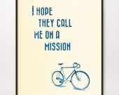 8x10 I Hope They Call Me on a Mission Art Print LDS Mormon