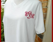 Personalized Beach Cover Up or long Sleep Shirt Bridal gifts or Sorority Sisters