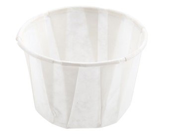 100 - 1.25 oz Paper Souffle Portion Cups for sauces, condiments and much more - Parties