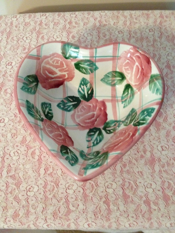 Heart Shaped Bowl Hand Painted Made In Italy By Ancora