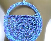 Sparkly Swirl Crochet Earrings - Your Choice of 6 Colors