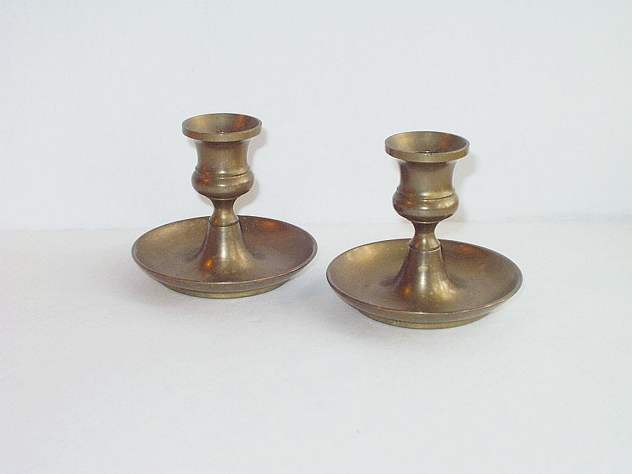 Vintage Brass Candle Holders 111