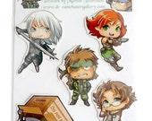 Metal Gear Solid Magnet set of 5