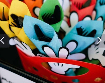 Mickey Mouse Clubhouse themed utensil napkin rings ONLY. Choose your quantity! Mickey party, Catch My Party