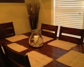 24-Natural Burlap Placemats-Wedding placemats-Banquets-Parties- Rustic Placemats
