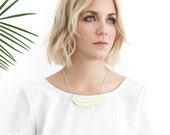 Heat Wave collar Necklace - Made of brass and sterling silver