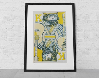 Kings Of Bluegrass - Limited Edition Silkscreen Poster - Hand Printed by Reedicus