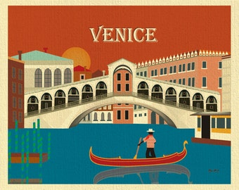 Venice Art Print Skyline, Venice Poster, Vertical Print, Venice city map, Venice Wall Art, Italian Travel Wall Art, Venice - style E8-O-VEN