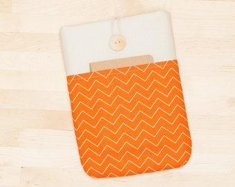 iPad Air 2 case / iPad sleeve / iPad cover, iPad pro / padded  - mini chevron orange -