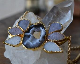 TWILIGHT SPARKLE /// Druzy Necklace