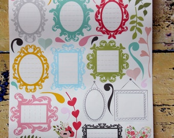 35  vinyl stickers  for gift wrapping embelishment and card making scrapbooking