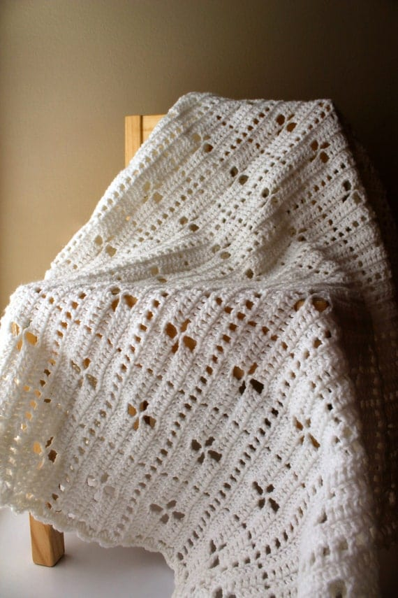 Knitting Pattern For Call The Midwife Blanket : Items similar to Call the Midwife Inspired Baby Blanket, Delicate Light Soft ...