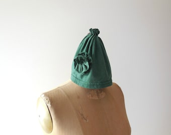 Womens Winter Hat Women's T-Shirt Hat Pull On Hat Recycled Hat Upcycled Clothing Cotton Hat by ohzie