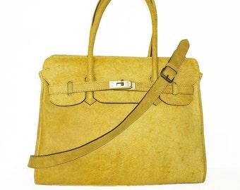 Distressed Leather Bag Cross-body Purse Ilita