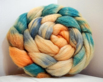 February Fields 3 Handpainted Polwarth/Silk 60/40 Top Spinning Fiber 4 oz
