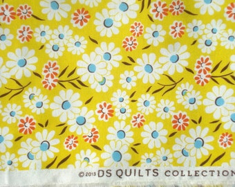 Croquet floral yellow DS Quilts Denyse Schmidt fabric  FQ or more