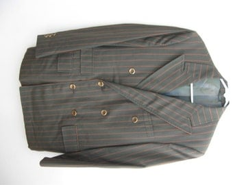 Striped Blazer / Double Breasted  Men's Jacket / Stylin Jacket / Hip Hop / Classic Mens Vintage / Swing / Gangster