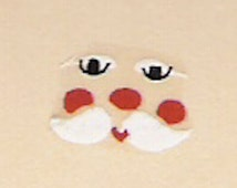 20 FATHER CHRISTMAS PEG Doll Face Decals Cute Traditional Christmas Craft Waterslide Transfers Dolly Peg Decoration - Looks hand painted