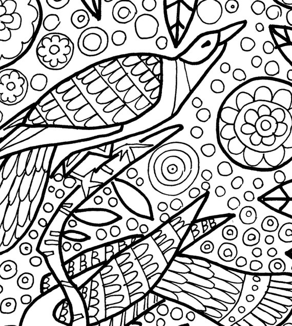 Folk Art coloring coloring book adult coloring book