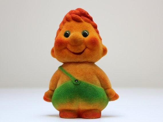 Vintage Russian flocking toy KARLSSON from Soviet Unions 70s