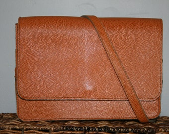 Vintage Mini Messenger Bag • Leather Messenger Bag • Camel Messenger Bag