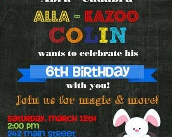 Magic Party Invite - Digital File