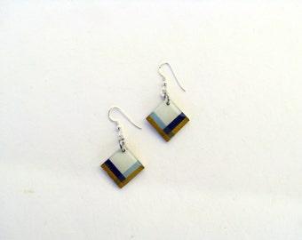 Resin Dangle Earrings-Geometric Earrings Resin-Contemporary Earrings-Gold Resin-Modern Resin Jewelry-Contemporary Jewellery