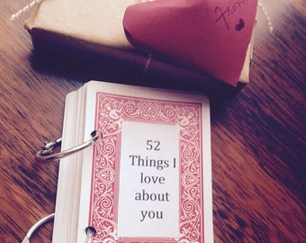 52 Things i love about you,valentine,Husband,valentine gift