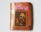 Jiffy Stitchery Embroidery Kit, Owl, 1978