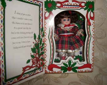 Vintage Christmas Marie Osmond Limited Edition Porcelain Doll