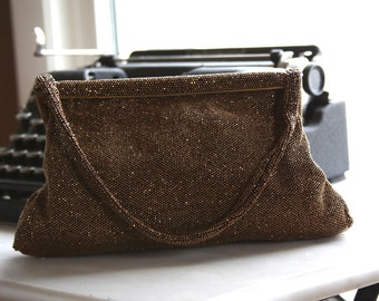 Made in Paris French fully beaded satin lined purse or clutch