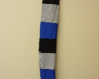 Patchwork Tail Bag Horse Tail Wrap Colorful Blue Gray Black Upcycled Elf Bag
