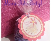 Mani Pedi Party Tags, Manicure Party Tags, Thank You Tags, Nail Polish Tags