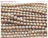ON SALE Luster Smoky Gold  6mm Round Czech