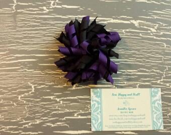 Purple and Black Korker Bow, Purple Korker Bow, Black Korker Bow, Purple and Black Bow