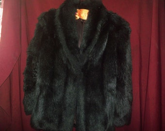 ladies winter coat dark brown