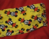 Minnie Mouse on Yellow Fleece Scarf