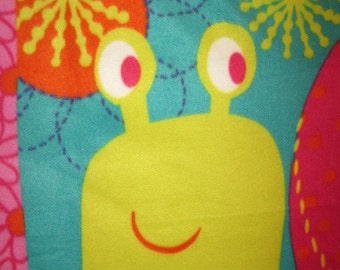 Happy Snail with Green Couch Throw - Ready to Ship Now