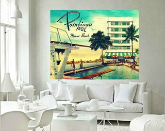 Art Gifts, Art Gifts for Women, MCM Wall Art, Miami Art, Mid Century Modern Art, MCM Gift Old Florida Print mcm Swimming Pool Art  Beach Art