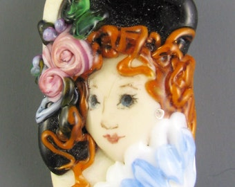 Lampwork Lady Portrait - Fantine
