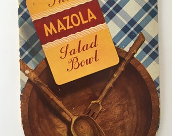 1930s The Mazola Salad Bowl Recipe Cookbook 1938