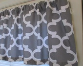 Sale New Color Premier Prints Valance Moroccan Grey Premier Prints