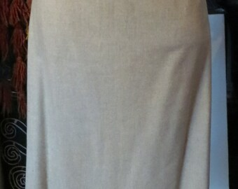 Fantastic 40s Gray Wool Pencil Skirt, L