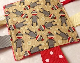 Sock Monkey Baby Crinkle Toy
