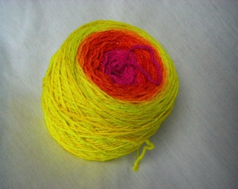 Superwash Merino Nylon Stellina Sparkly Gradient - Calypso Sock - Disco Inferno