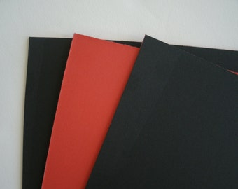 3  8 x 10 Black w/Red Core Blank Uncut Picture Frame Matboard Acid Free
