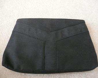 Yves Saint Laurent Black Twill Fabric Clutch Purse - Yves Saint Laurent Cosmetic Bag - Yves Saint Laurent Clutch Purse